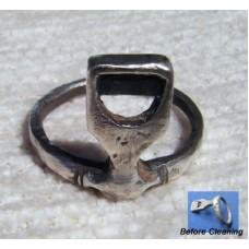 Roman Silver Ring Key