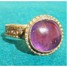 Gold Ring with Amethyst Byzantine