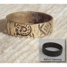 Celtic Bronze Age Engraved Ring