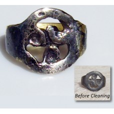 Amazing Celtic Triskele Bronze Ring