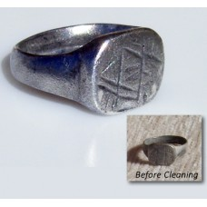 Solid Silver Viking Saxon Rune Ring