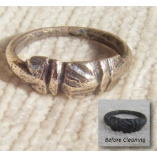 Medieval Bronze Fede Wedding Ring