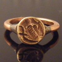 Bee Zoomorphic Celtic Druid Pagan Bronze Seal Ring
