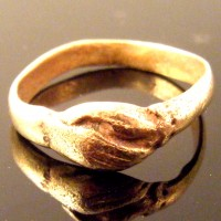 Roman Bronze Wedding Marriage Betrothal Handclasp Ring