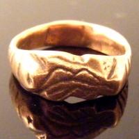 Druid Celtic Pagan Bronze Ring Oak Leaf