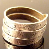 Large Silver Viking Spiral Flat Ring