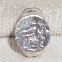 Rare Greco/Roman Silver Ring God Asclepius