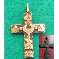 Medieval Bronze Cross Pendant