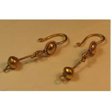 Roman Solid Gold Earrings