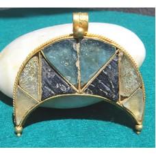 Huge Lunar Pendant Byzantine Gold
