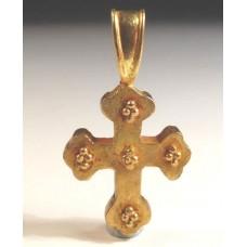 Byzantine 22kt Gold Cross Authentic Genuine