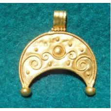 Pure Gold Roman Crescent Pendant