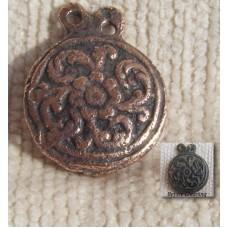 Flower and Leaf Decoration Celtic Druid Pagan Bronze Brooch/Pendant.