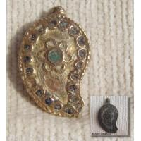 Celtic Druid Pagan Warrior Bronze Enamel Buckle