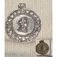 Amazing Large Roman Silver Pendant Unidentified Roman Empress